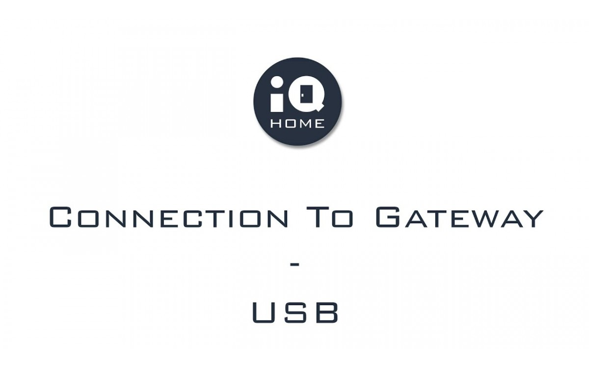 Connection to Gateway (USB)