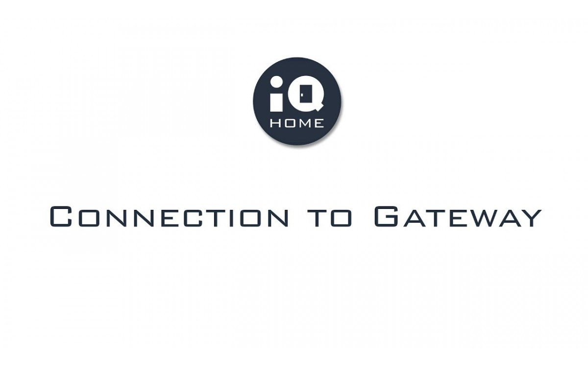 IQ Home - Connection to Gateway (LAN)