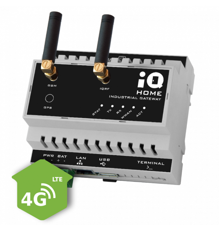 Industrial Gateway with 4G/LTE connection [GW-IND-01-4GO]