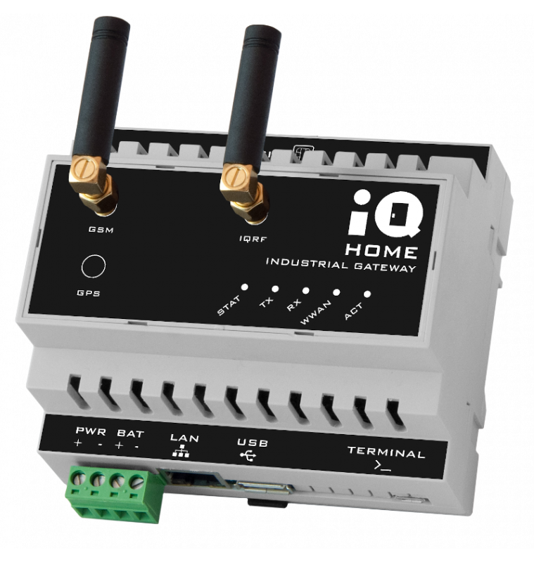 Industrial Gateway with Ethernet + 4G/LTE connection [GW-IND-01-4G]